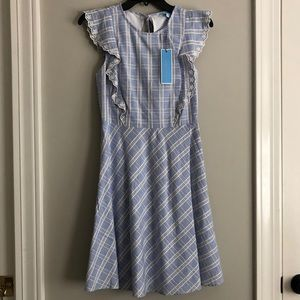 Draper James Collection Linen Embroidered Dress